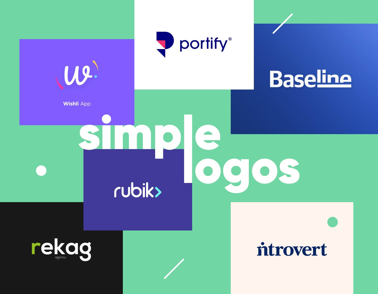 Simple logo examples