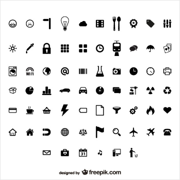 Stylish free material user interface Icon pack by FreePik