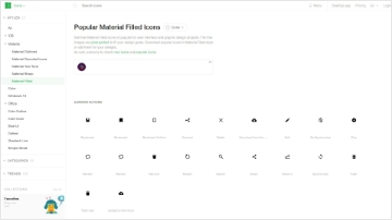 Free 5 color material user interface icons by Icons8.com