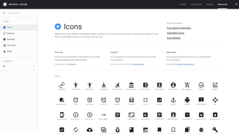 Free Material user interface Icons by Google