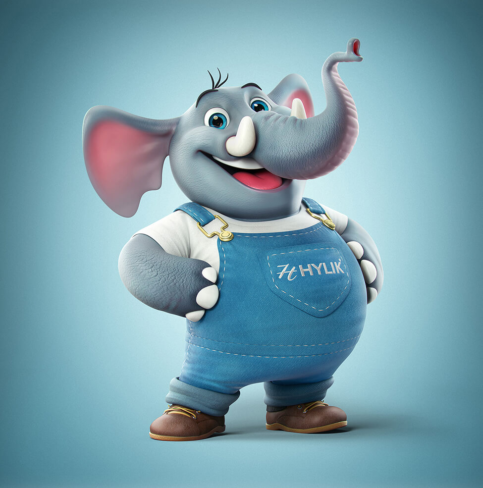 Really Good Character Design - 3D Cute Friendly Elephant