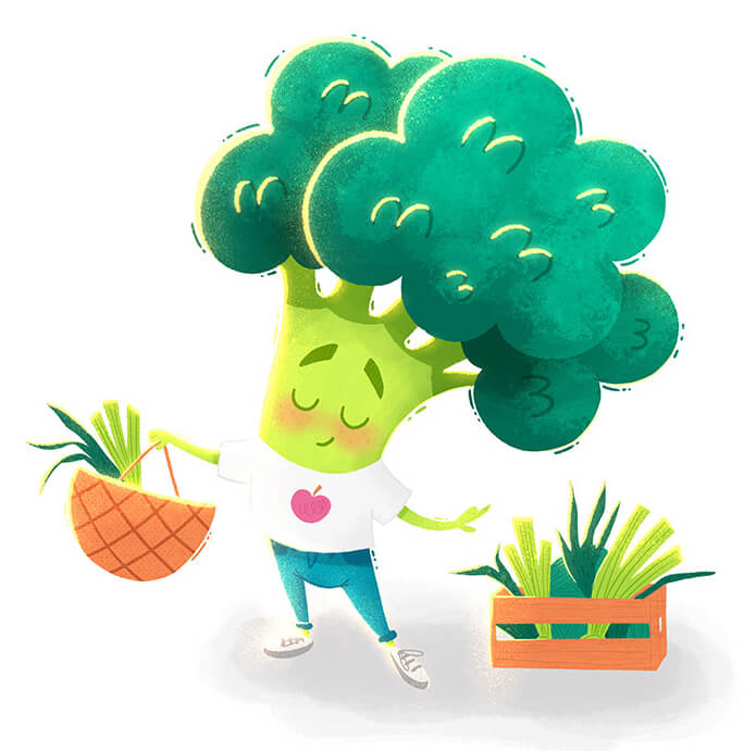 Really Good Character Design - Adorable Cute Green Vegetable Character
