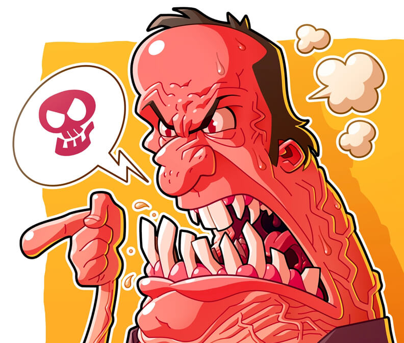 Really Good Character Design - Angry Red Villain Man