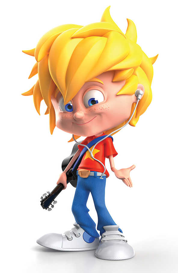 Really Good Character Design Example - Blond Little Boy Kid