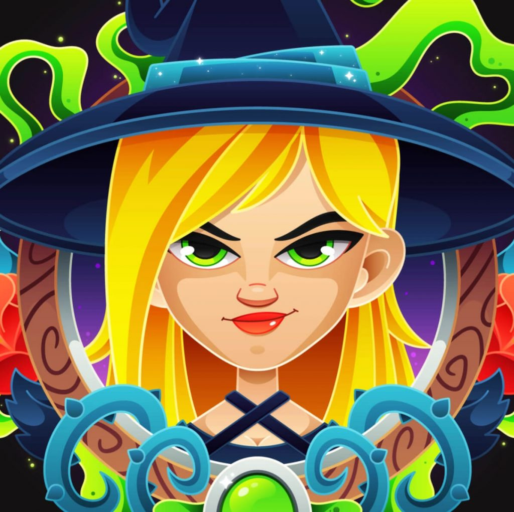 Really Good Character Design - Blonde Witch with Serious Look
