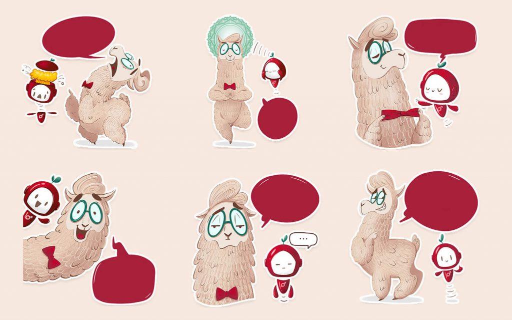 Really Good Character Design - Cute Funny Lama Character