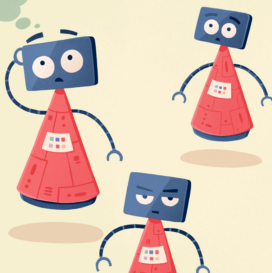 Really Good Character Design - Cute Simple Shapes Robot