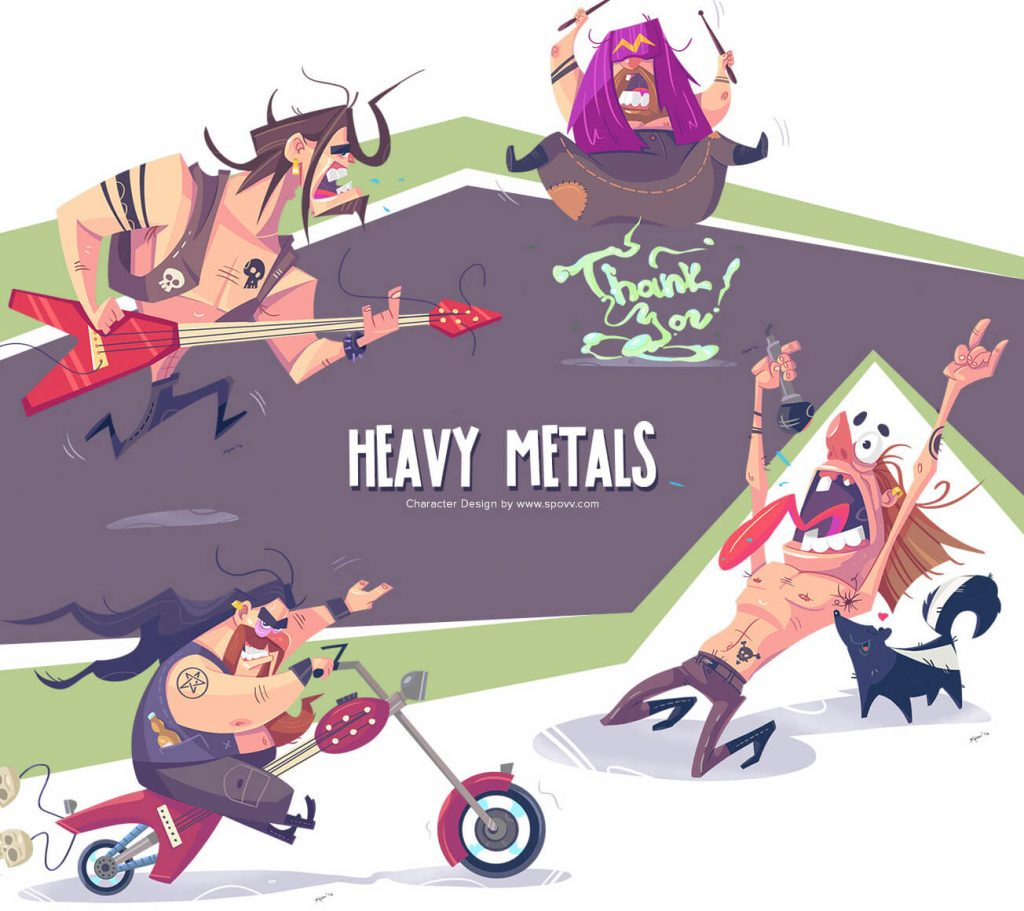 Really Good Character Design - Funny Rockers Concepts