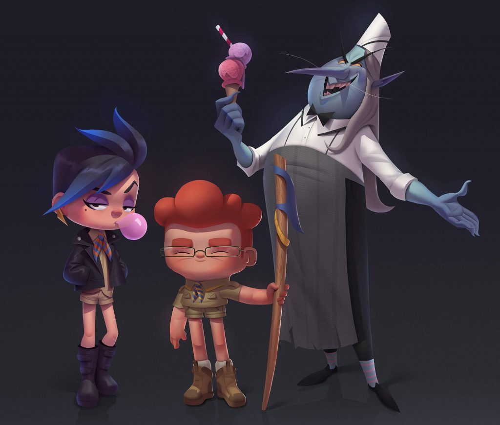 Really Good Character Design - Kids with Funny Villain Character