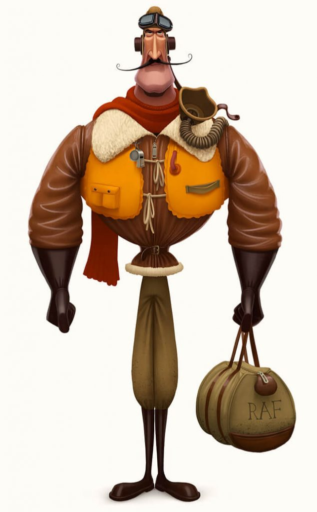Really Good Character Design - Modern Style Handsome Pilot Character