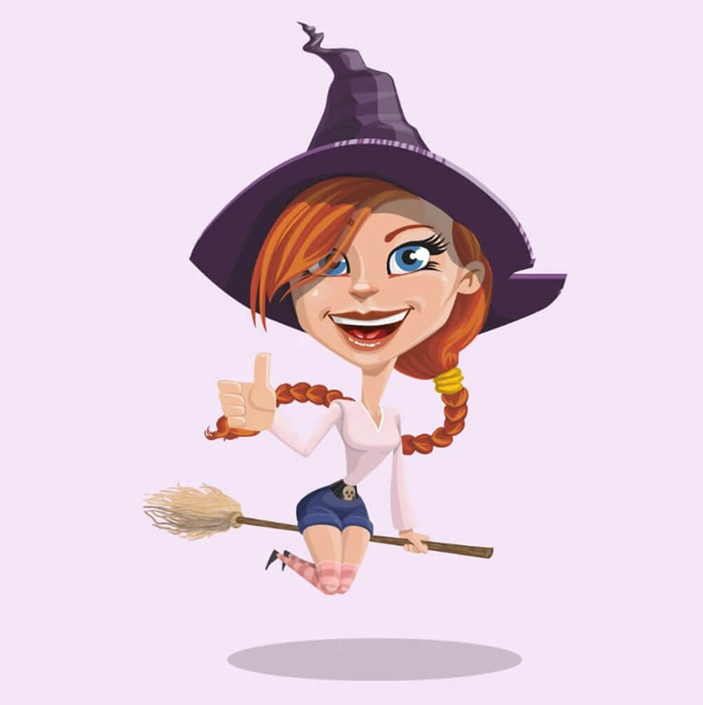 Really Good Character Design - Pretty Female Witch