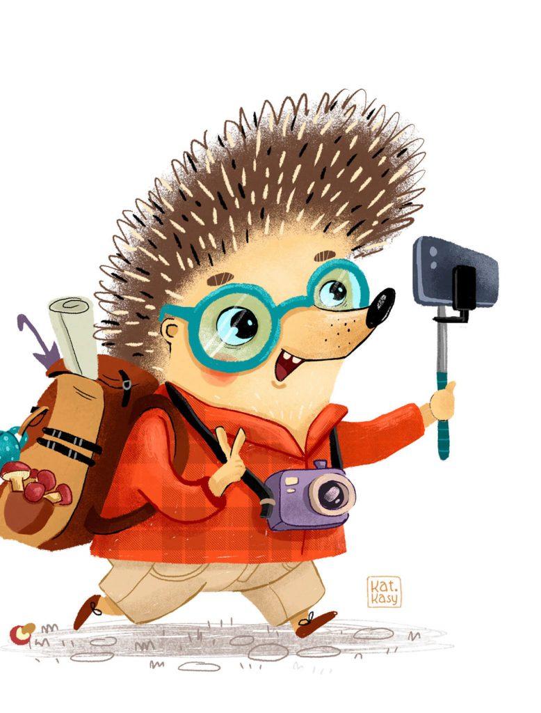 Really Good Character Design - Cute Hedgehog
