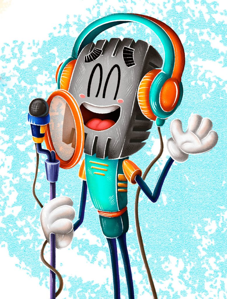 Really Good Character Design Example - Cartoon Music Character Design