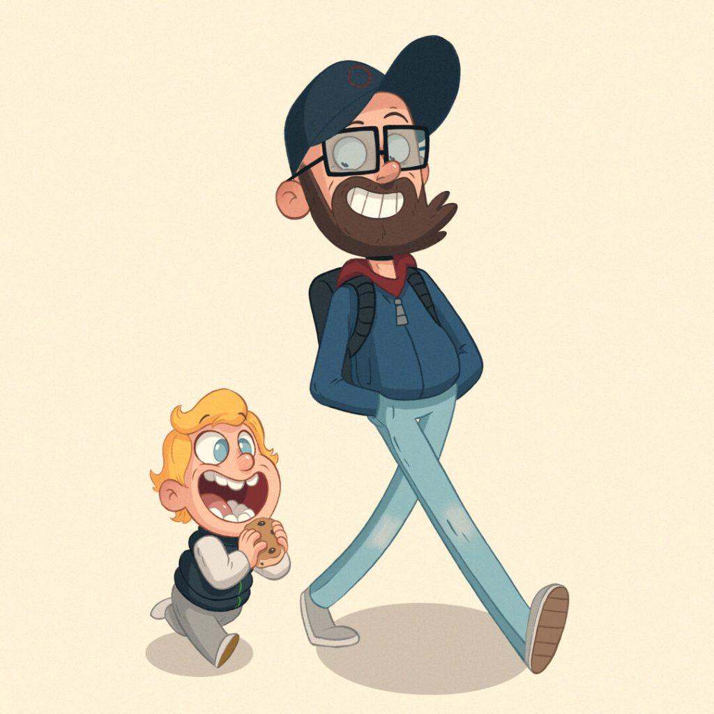 Really Good Character Design Example - Father and Kid
