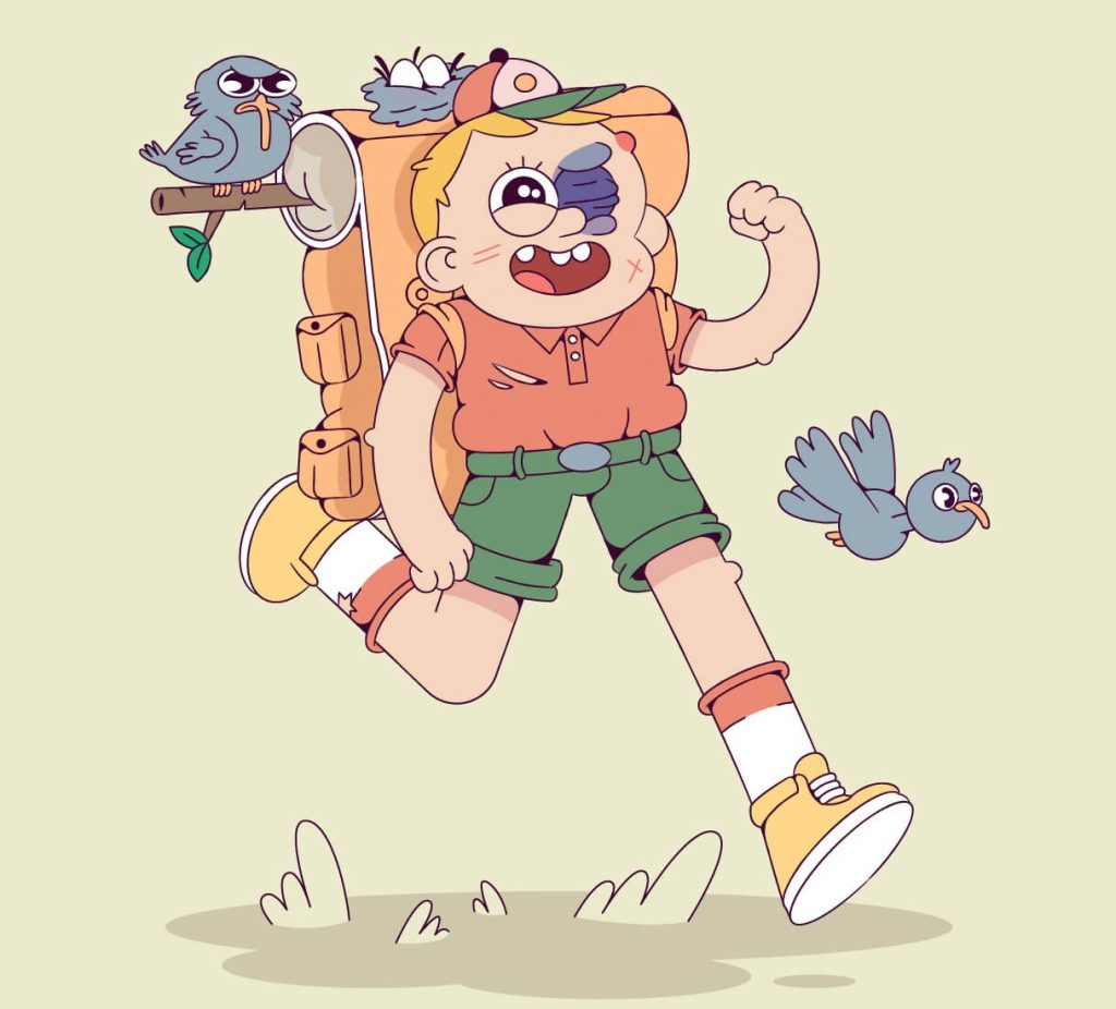 Really Good Character Design Example - Stylized Cartoon Character