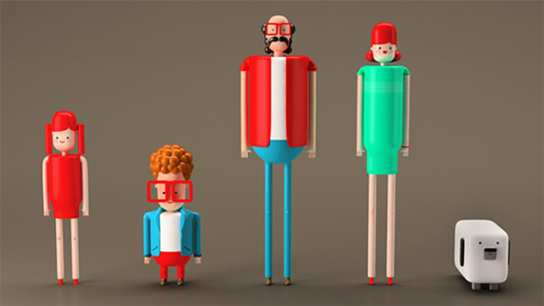 Really Good Character Design - Stylized Family Characters