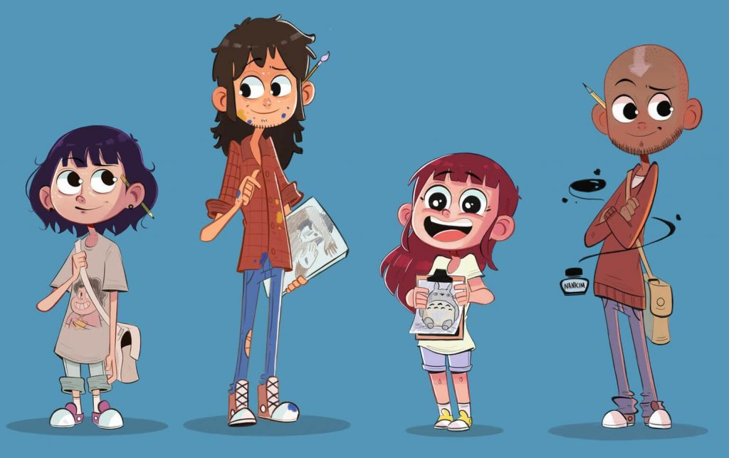 Really Good Design Example - Cartoon Book Character Personalities