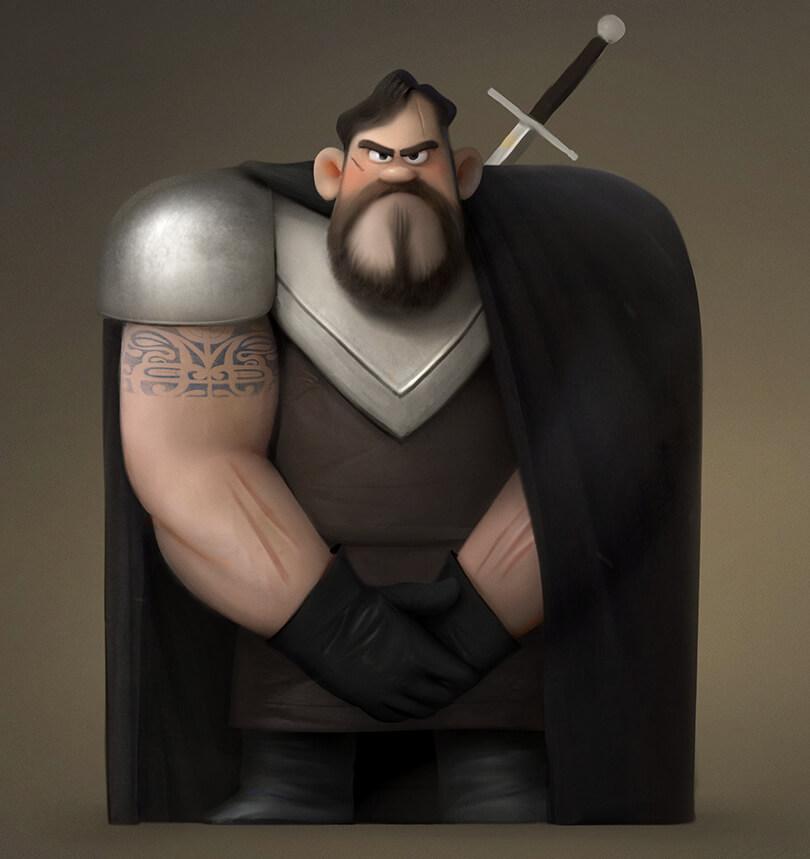 Really Good Man Character Design - Square Shape Man Character