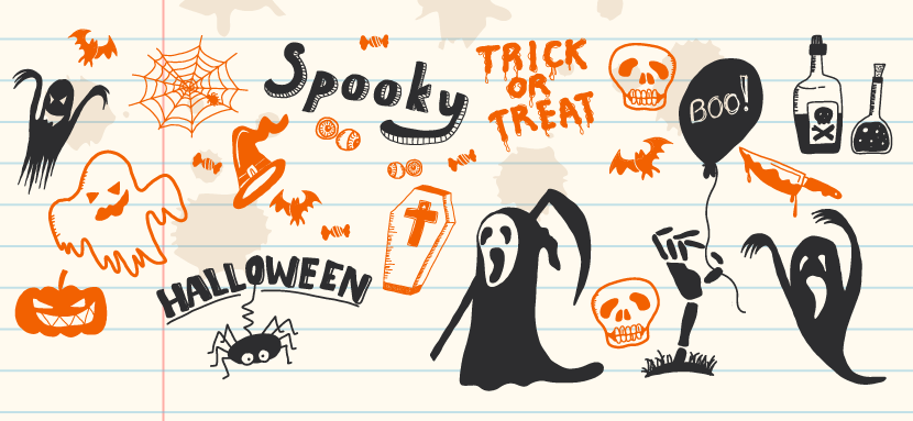 Free Halloween Hand-drawn Elements