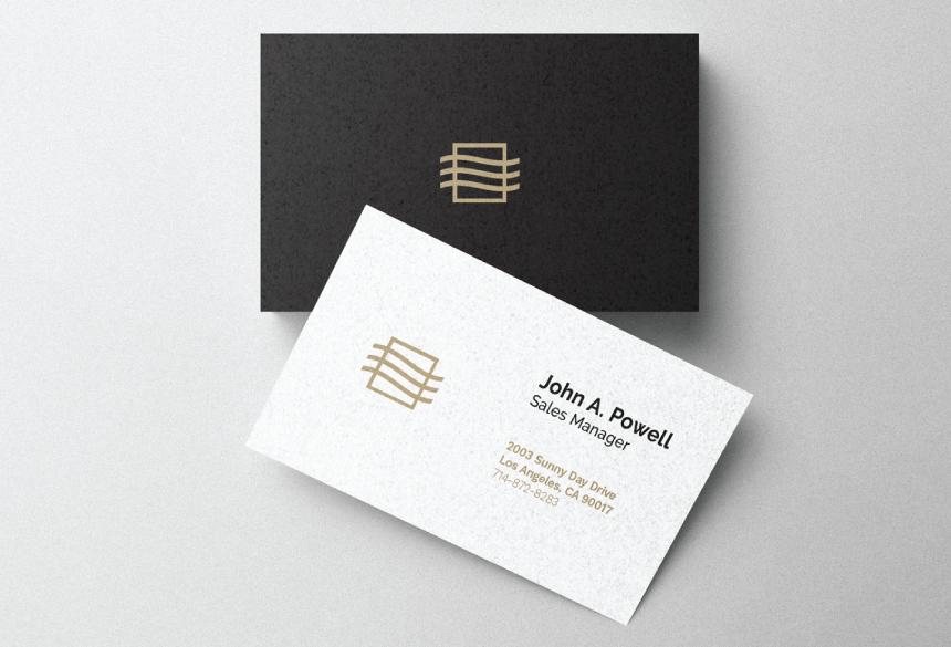 Free Business Card Mockup PSD 01