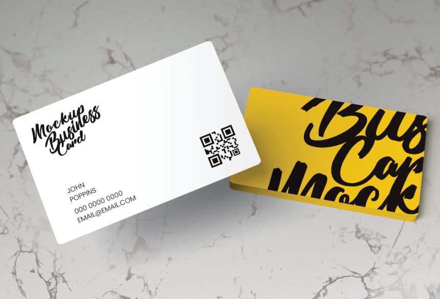 Free Business Card Mockup PSD 04