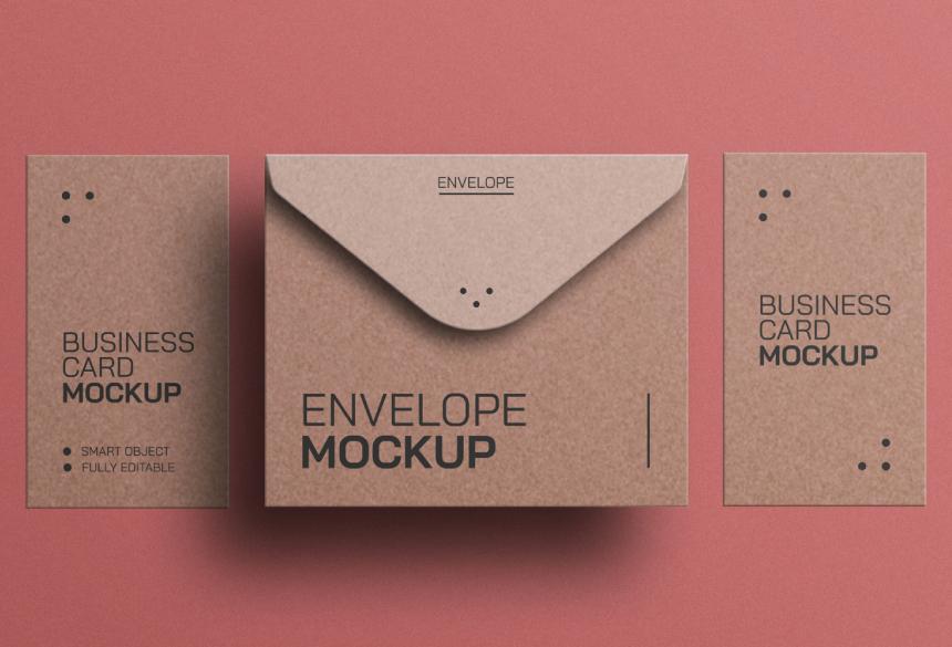Free Business Card Mockup PSD 08