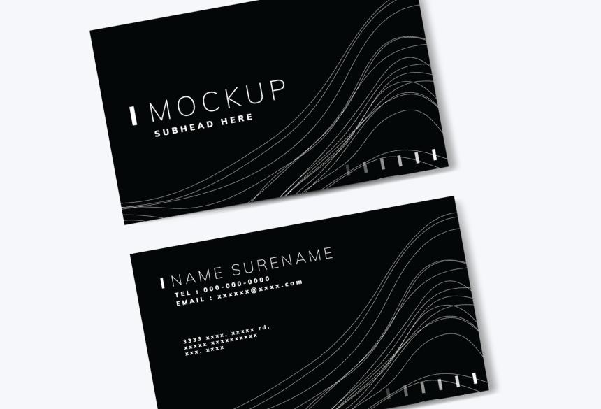 Free Business Card Mockup PSD 09