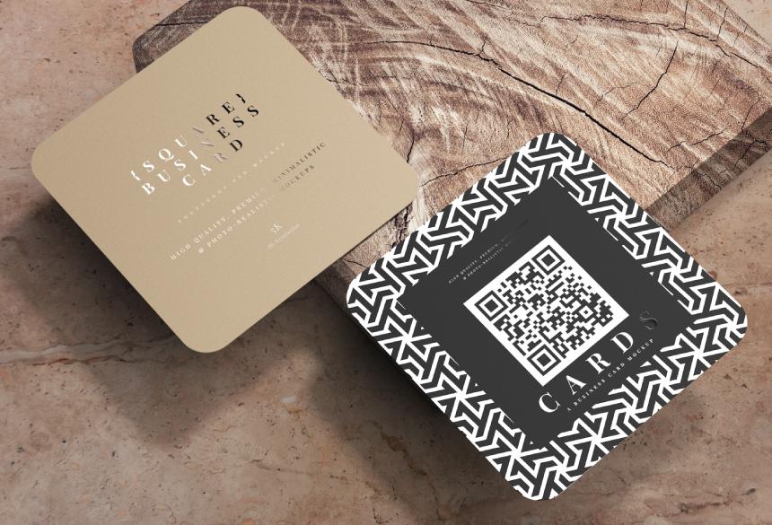 Free Business Card Mockup PSD 11