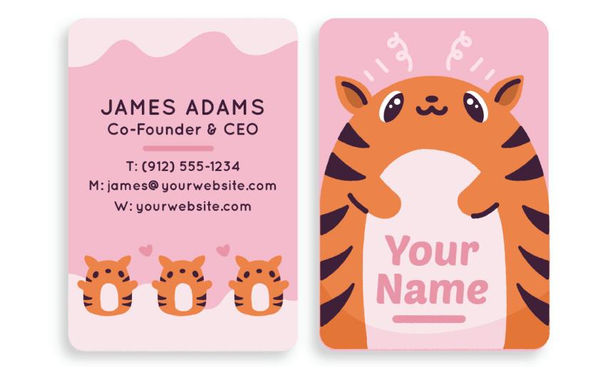 Business Card Cartoon Example 57