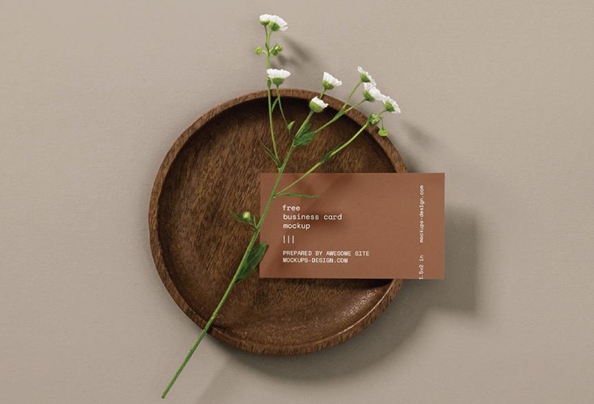 Free Business Card Mockup PSD 14