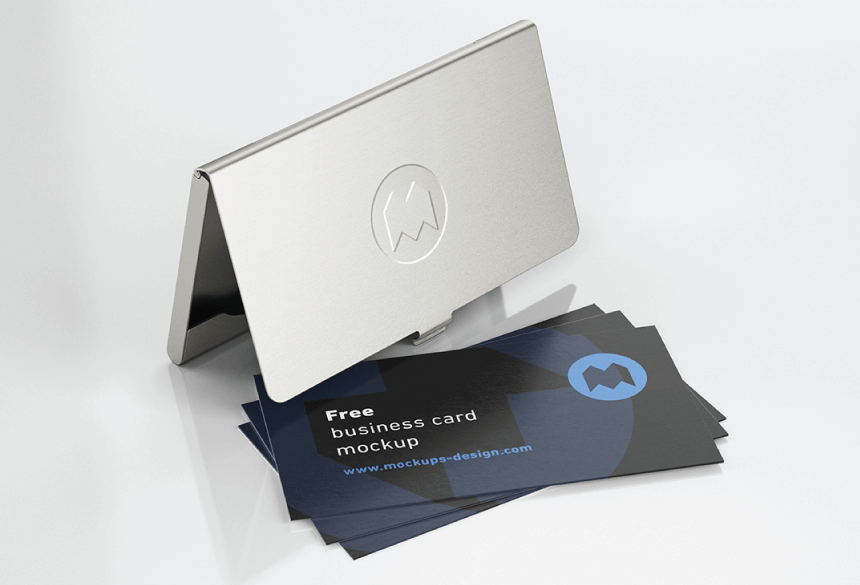 Free Business Card Mockup PSD 21