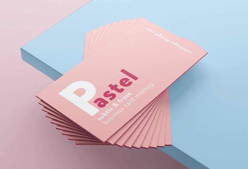 Free Business Card Mockup PSD 22