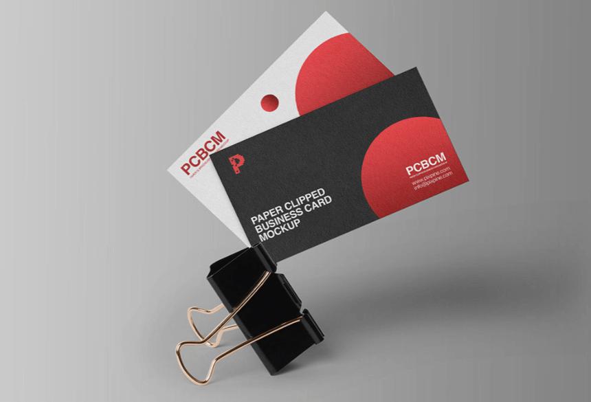 Free Business Card Mockup PSD 23