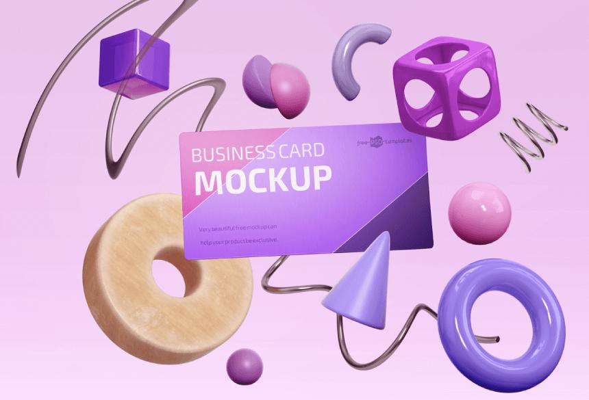 Free Business Card Mockup PSD 28