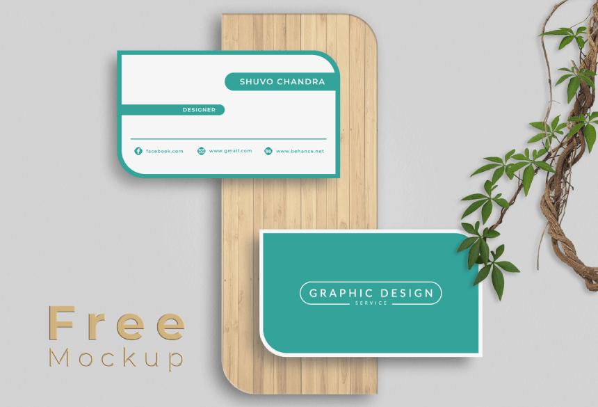 Free Business Card Mockup PSD 29