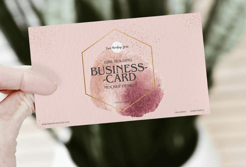Free Business Card Mockup PSD 33
