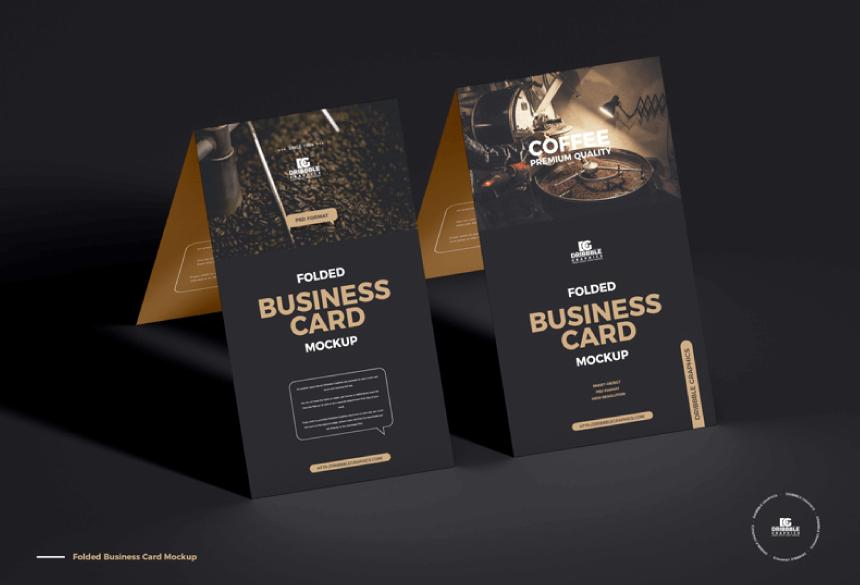 Free Business Card Mockup PSD 34