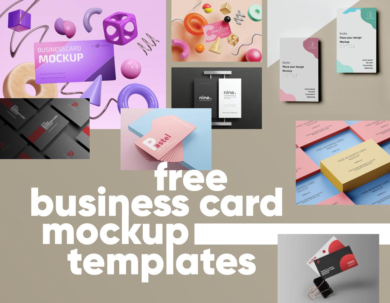 Free Business Card Mockup Templates